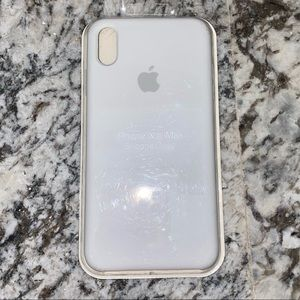 NWT iPhone XS Max Silicone Apple Case White
